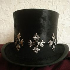 Gothic victorian hat decoration by poppenkraal on Etsy, $17.50