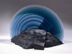 Maria Lugossy, Dream, 2009, glass, 16x25x20 $16,000    Habatat Galleries