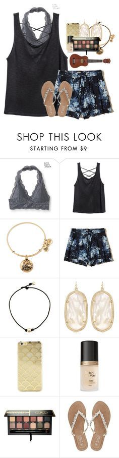 """Just keep Swimming"" by labures on Polyvore featuring Aéropostale, Alex and Ani, Hollister Co., Kendra Scott, Sonix, Too Faced Cosmetics, Anastasia Beverly Hills and M&Co"