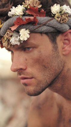 Model: Chad Masters By: Dan Austin Brazil Beauty, Flowers For Men, Face Men, Male Photography, Flower Boys, Male Beauty, Gorgeous Men, Male Models, Character Inspiration