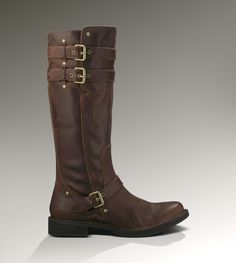 Tall leather fashion boots