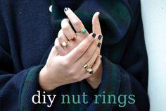 Diy nut ring {handmade jewelry} - Born in 82 - Fashion & Creativity Blog