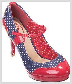 ca4d224ada0 Dancing Days MARY Polka Dots Riemchen Punkte HIGH HEELS Pumps Rockabilly -  Damen pumps (