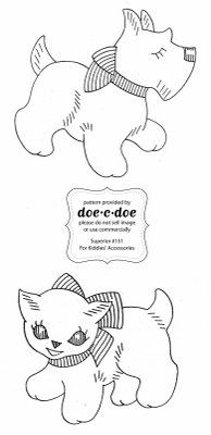 doe-c-doe: thursday = cute scottie embroidery pattern