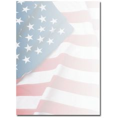 patriotic american flag border laser inkjet printer paper 80 pack