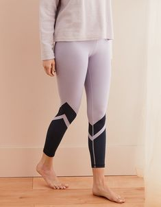 ef6a589c7dd70 Aerie Move Color Block 7/8 Legging Frosted Thistle Girl Sweat, American  Eagle Outfitters