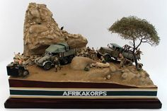 Under Attack DAK diorama