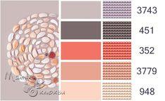 ⚫ Мятная клюква ⚫ Dark Color Palette, Colour Pallete, Color Combinations, Yarn Inspiration, Hand Embroidery Stitches, Dmc Floss, Colour Board, Pantone, Coordinating Colors