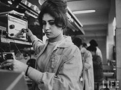 Egyptian Woman working at TeleMisr factory - 1960s