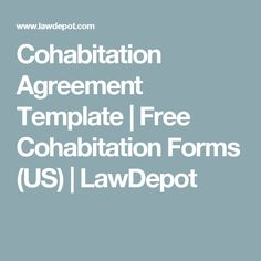 Cohabitation Agreement | Free Cohabitation Template (Canada ...