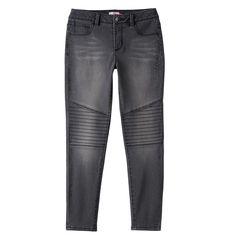 Girls 7-16 & Plus Size SO® High-Rise Moto Jeggings, Size: 16 1/2, Black