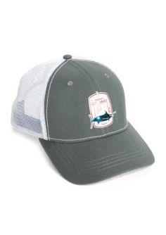 Guy Harvey Men s Barrel Roll Trucker Hat - Charcoal - One Size 3cbbcb96a5e4