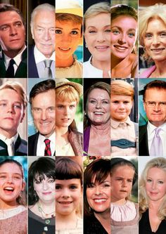 The cast of the Sound of Music then and now