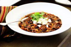 black bean and sweet potatoe chili