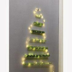 Christmas tree on walls