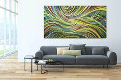 Acryl Gemälde 'Im Sog der Farben' 200x100cm