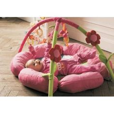 Pink Flower Baby Activity Gym Play Mat $170