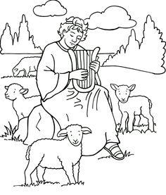 Planşe de colorat – Samuel, Saul, David şi Solomon | Viaţa la ţară