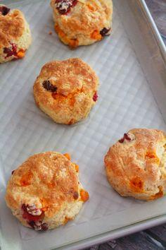 Cranberry Pumpkin Spice Scones | Bluebonnets & Brownies
