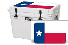 YETI 20 QT Cooler Graphics - Texas Flag
