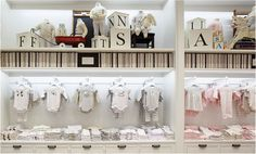 New Baby Clothes Shop Display Visual Merchandising 63 Ideas Storing Baby Clothes, Cool Baby Clothes, Baby Clothes Shops, Baby Store Display, Store Displays, Baby Outfits Newborn, Baby Boy Outfits, Visual Merchandising, Best Baby Shoes