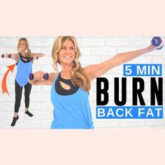Dumbbell Arm Workout, Back Fat Workout, Fat Burning Workout, 14 Day Workouts, Hiit Workouts For Beginners, Reduce Belly Fat, Burn Belly Fat, Dumbbells For Women, Burn Back Fat