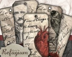 poetry tag  digitaler download sheet von digitalRefugium auf Etsy, €3.40 I Gen, Collage Sheet, Coffin, Paper Dolls, Gift Tags, Coloring Books, Poetry, Scrapbook, This Or That Questions