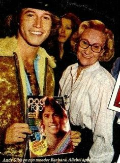 Andy Gibb and Mom.