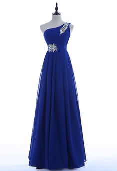 New Long Design Evening Dress Party One Shoulder Lace-up Plus Size Formal Pretty Prom Dresses, Elegant Prom Dresses, Prom Dresses Blue, Dresses For Teens, Ball Dresses, Homecoming Dresses, Cute Dresses, Beautiful Dresses, Ball Gowns