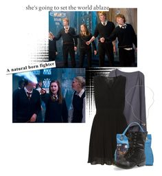 """""""Ginny Weasley"""" by charlizard ❤ liked on Polyvore featuring moda, Mela Loves London, Vince Camuto y botff"""