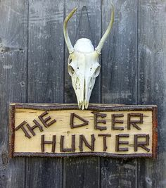 THE DEER HUNTER Handmade Wooden Sign with by TheRusticWoodshed