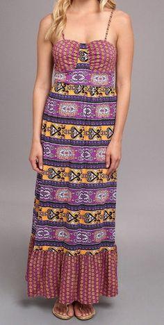 Rampage Border Print Maxi Dress in Byzantium – Rebekah's Treasures