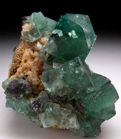 Fluorite with Galena $ 350 SOLD Rogerly Mine, Durham, England
