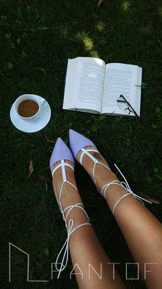 #PANTOF #shoes #handmade #leather #heels #coffe #purple #wraparound  https://m.facebook.com/pantof.net/