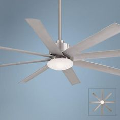 """65"""" Minka Aire Slipstream Brushed Nickel Outdoor Ceiling Fan"""