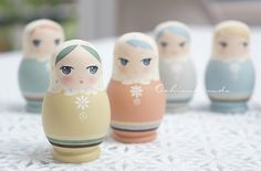 Matryoshka Doll, Russian Nesting Dolls by ochisuk,MDA