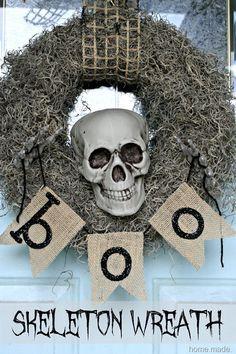 Spooky Skeleton Wreath