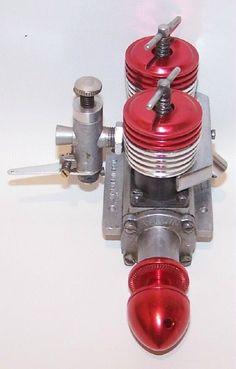 "Aurora Taplin Twin ""Mark III"" 8cc Diesel Control Line Model Airplane Engine | eBay"