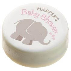 Elephant Baby Shower | Pink and Brown Chocolate Dipped Oreo