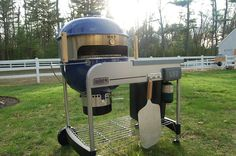 Wait a minute. Its an outdoor pizza oven? Like a BBQ but for pizza and outdoors? Outdoor Pizza Oven Kits, Outdoor Oven, Barbecue Grill, Grilling, Grill Oven, Pizza Oven Fireplace, Weber Bbq, Weber Grills, Smoke Grill