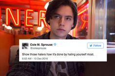 Literally Just 17 Hilarious Tweets From Cole Sprouse #timbeta #sdv #betaajudabeta