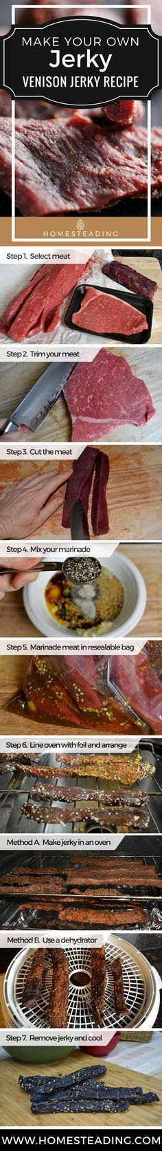 Step by Step Venison Jerky Recipe | Homesteading Recipe