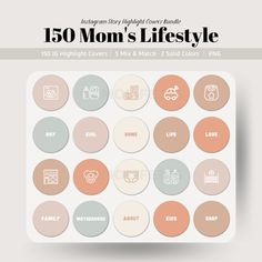 150 Mom's Lifestyle Instagram Story Highlight Covers, Social Media Branding for Small Business and Bloggers Social Media Branding, Social Media Icons, Social Media Marketing, Digital Marketing, Facebook Store, Image Icon, Branding Kit, Competitor Analysis, Story Highlights