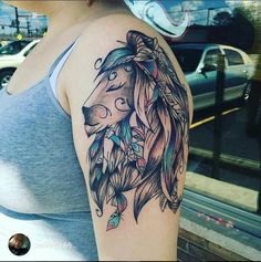 #tattoos #tatouage #tattooidea #lion #wild #wildlife #animal #boho #bohostyle #bohemian #ink #tattooed #idea #liontattoo