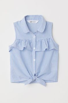 Check this out! Sleeveless blouse in airy c3909fab91c