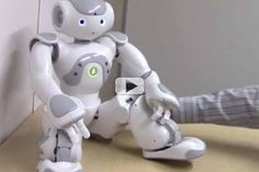 This robot was created to demonstrate the sensitive places on the human body on the robot and show its reaction when touched. This is an interesting idea to see how it reacts.
