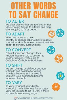 Learn English Phrases Related to Change. Other words you can use instead of change. Useful English expressions about changes. Speak English Fluently, English Idioms, English Phrases, Learn English Words, English Study, English Lessons, English Grammar, Other Words For Change, English Language Learning