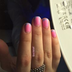 A classical French manicure can be bright and unusual. For this you can use different colors. Here we can see ...