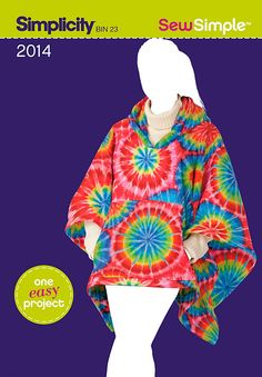 Purchase Simplicity 2014 Sew Simple MIsses fleece poncho and read its pattern reviews. Find other Coat/Jacket, sewing patterns.
