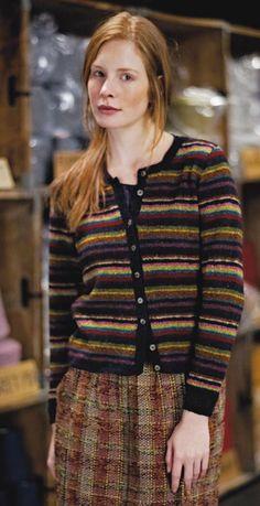 Rowan Fine Tweed Striped Cardi kit - Got Yarn! Got Kits! Get Knitting!